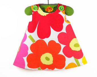 Marimekko Dress - Infant Dress - Baby Shower - Speical Occasions - Princess Dress - Handmade Childrens Fashion - 12M only