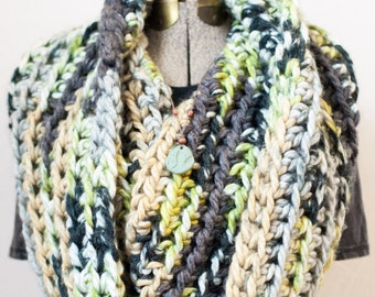 Large Knitted Cowl Scarf