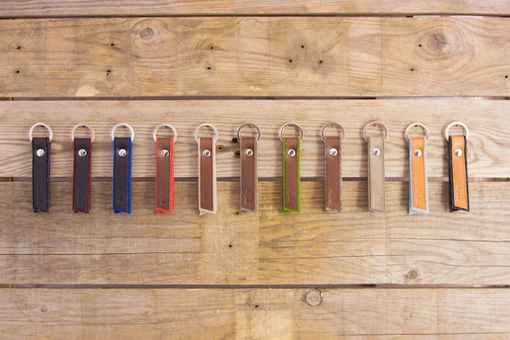 Felt and leather KEY FOBS, key holder, keychain, wool felt, handmade, made in Italy