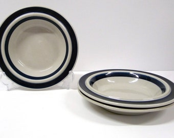 Set of 3 Arabia ANEMONE BLUE plates Ø 20 cm