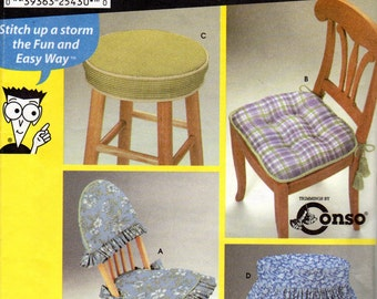 Easy Chair and Stool Cover Pattern- Simplicity 9984, uncut, Sewing Pattern s for Dummies