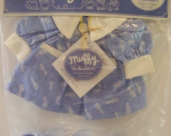 """Muffy Collection """"Muffy signature blue dress"""" outfit for a bear"""
