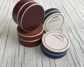 A collection of French Antique pill boxes, select from one to four boxes. Blue, sienna and burgundy colours.