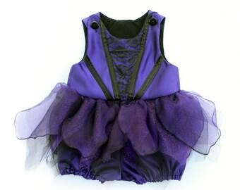 Toddler Dark Purple Fairy or Villain Costume Romper Handmade Unique - Ready to Ship - Sz 2