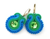 Soutache earrings - christmas gift for sister - gift for wife - statement earrings bridesmaids earrings beaded earrings gift for girlfriend