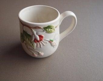 Otagiri hummingbird mug fuchsia flower relief mug tea mug coffee mug gift for her gift for hummingbird lover  handcrafted in Japan looks new