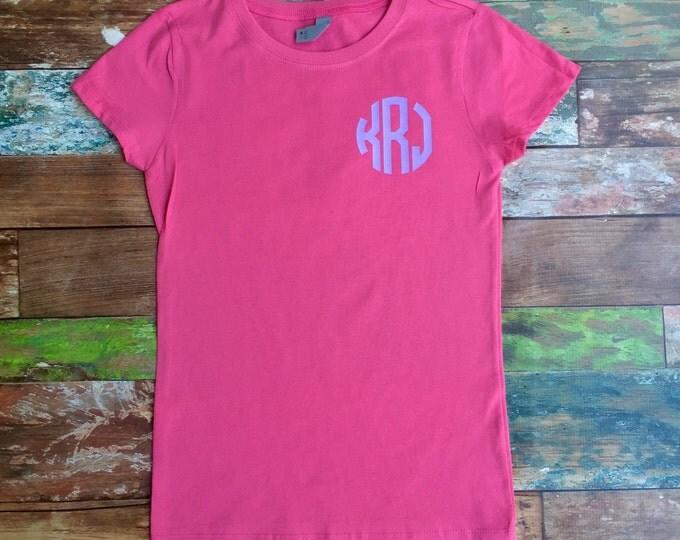 Monogrammed T-shirt, Monogram Tee Shirt, Monogrammed Gifts, Monogrammed Gifts, Personalized t shirt,