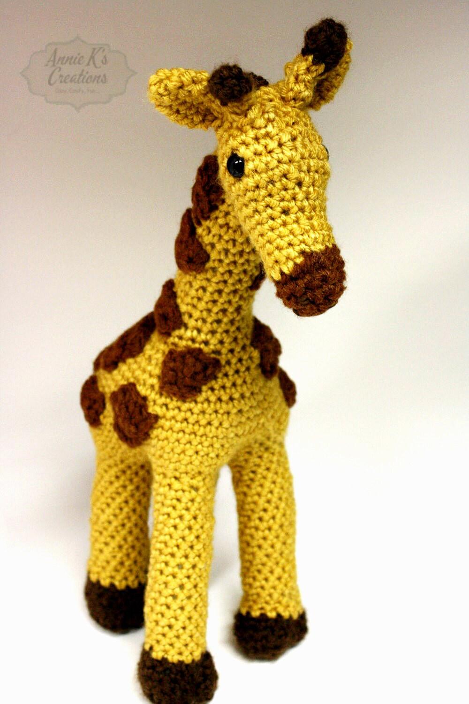 Amigurumi Giraffe Handcrafted Unique Baby by anniekscreations