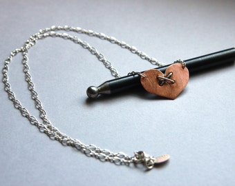 Broken Heart Necklace-Copper and Sterling Silver-TheModernRogue