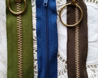 Vintage Short Retro Zippers Lot No.02
