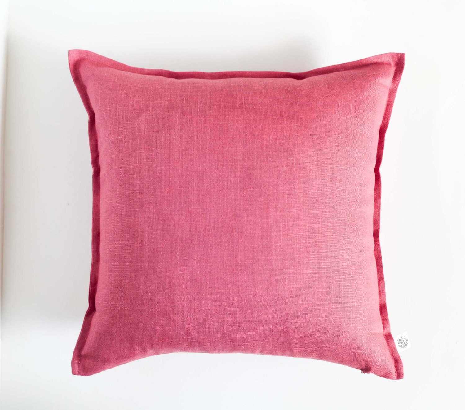 Dark pink throw pillow raspberry pink pillow cover by pillowlink