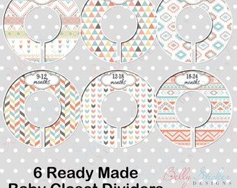 Neutral Closet Dividers, pre-assembled clothing organizers - Tribal