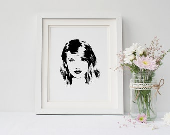 "Taylor Swift POP ART Print - 8x10"" Instant Digital Download"