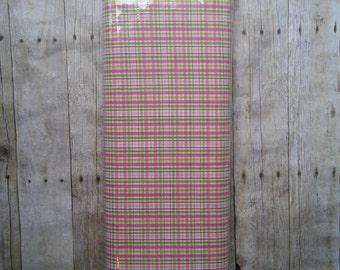 Robert Kaufman Kona Clothworks Pink and Green plaid