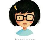 Tina Belcher from Bob's Burgers - open edition art print
