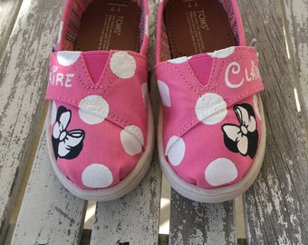 Ready to Ship: Pink Minnie Mouse Polka Dot TINY TOMS