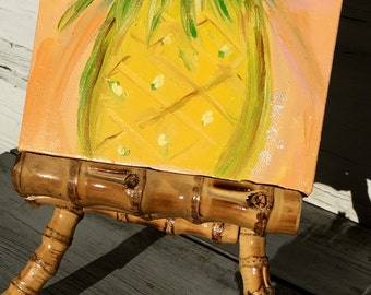 Pineapple Painting/Tropical Theme Original Painting/Small Painting