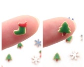 Christmas Tree or Stocking Cookie, Dollhouse Sweets, 1:12 Scale Miniature, Choose Your Color