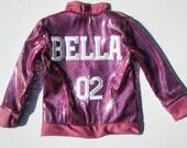 Kids unisex Sequin Bomber Jacket