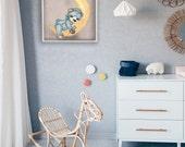 Teddy Sweet Dreams Drawing - Printable Art - Nursery Room Decor - Kids Wall Art