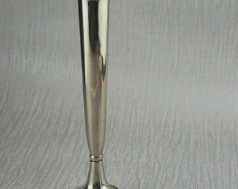 Silver Plated Tall Posy Flower Vase Display Silver Plated Fluted Top Ornament