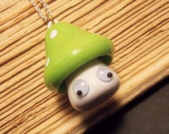 Kawaii Toadstool Necklace