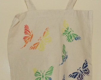 rainbow butterfly tote