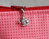 Teapot Zipper Charm, Teacup Zipper Charm