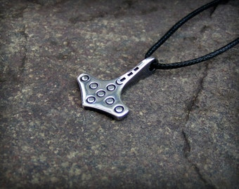 Norse Thors hammer Mjolnir Pendant In Silver