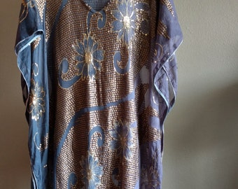 Hand Made Indian Caftan, floral