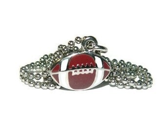 Football Necklace, Boys Team Necklace, 20 Inch Chain