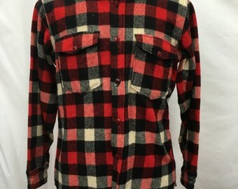vintage 70's Woolrich woollen Plaid Jacket/Shirt