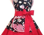 Christmas Apron Hot Chocolate Apron Peppermint Diner Apron