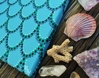 mermaid magic - original painting - fish scales / mermaid scales - surf art - coastal decor - ocean art - mermaid art