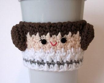 Princess Leia Crocheted Coffee Cup Cozy