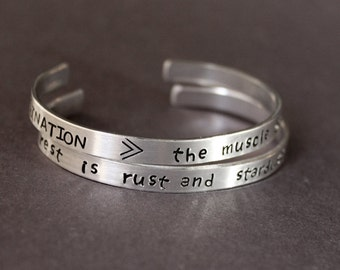 Imagination Bracelet, Stardust Jewelry, And The Rest Is Rust And Stardust, The Muscle of the Soul, Vladimir Nabokov Quote, Lolita Literature