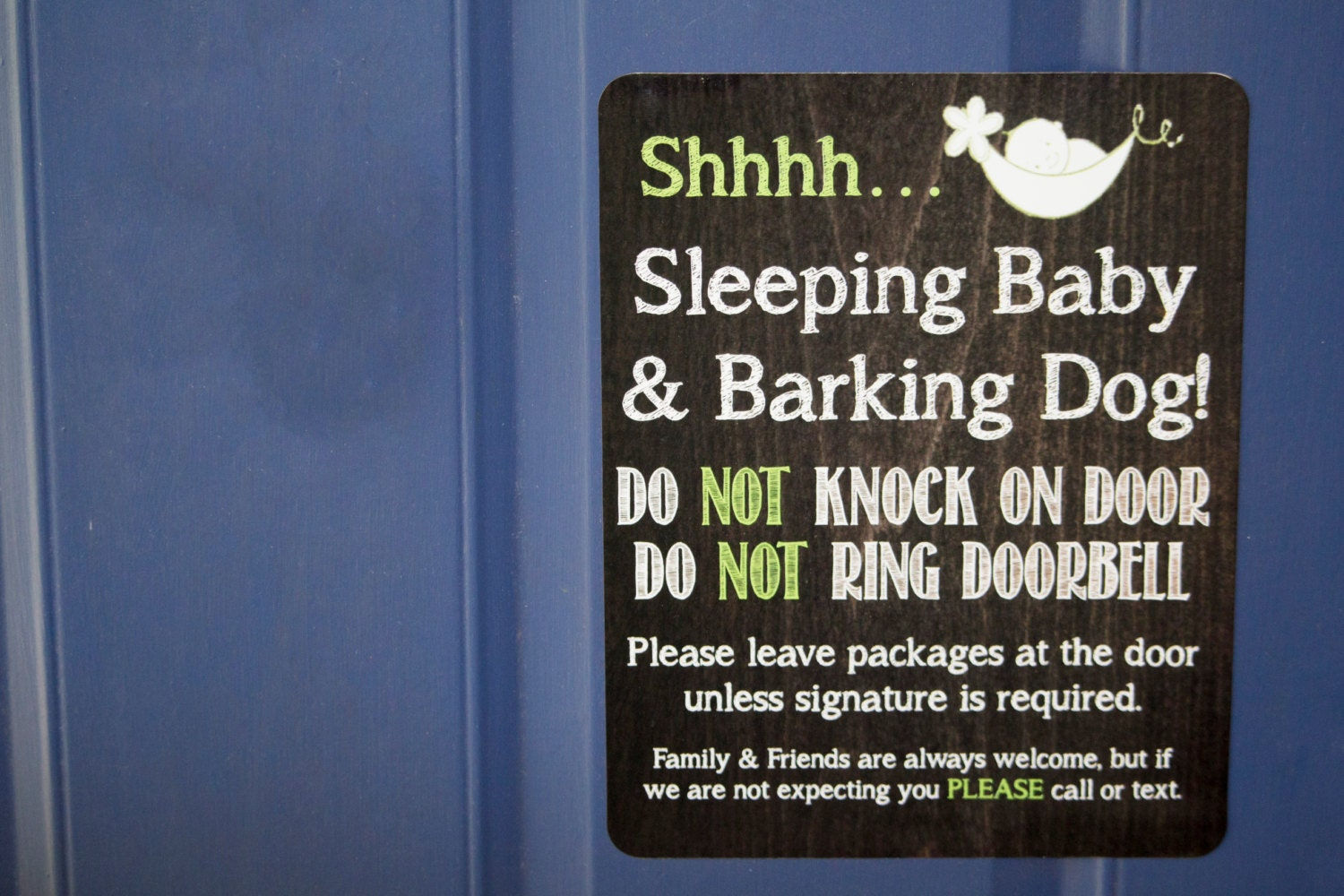 Doorbell Sign For Sleeping Babyease Do Not Ring Bell Baby