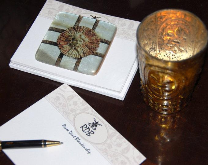 Ironwork Girl Rosette Art Glass - Eternal Beauty