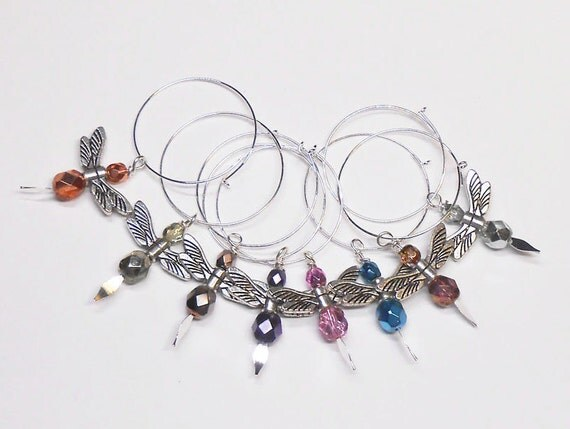 wine glass charms dragonfly wine glass charms unique wine