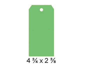 Large Tags, Gift Tags, Price Tags, Large Tag Blanks, Hang Tags, large green tag, green gift tag, green hang tag, green wish tag, green tag
