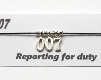 James Bond 007 themed Friendship bracelet on waxed cotton cord