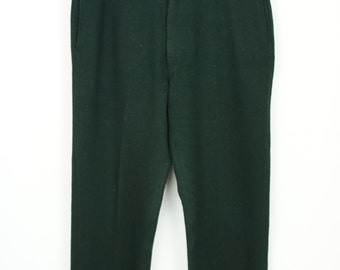 Vintage 1950's Wool Hunting Pants size 40 Hunter Green
