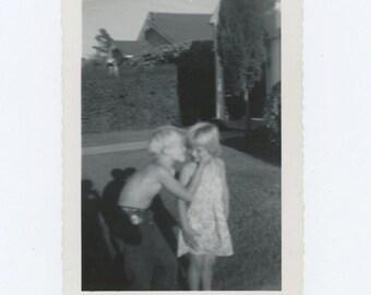 Elaine & John, August 1950: Vintage Snapshot Photo (67484)