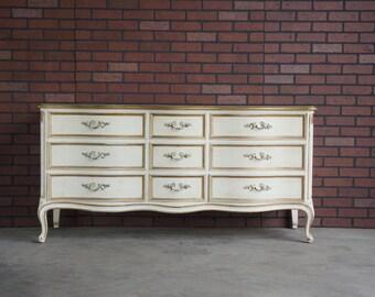 Dresser / Country French Dresser / Vintage Dresser / French Provincial Dresser by Henredon