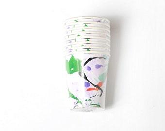 Multi Color Marble Paper Cups - Meri Meri- Party Decor - Supplies - Birthday - Wedding - Baby Shower – Tableware