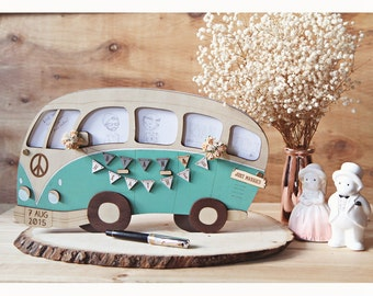 Wedding Guest Book Alternative VW Campervan - Rustic Wedding Adventure Beach