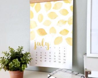 "2016 Monthly Wall Calendar Bold, Modern, Colorful Watercolor Designs - 11"" x 17"" On Matte Cardstock - Home, Office, School, Dorm, Apartment"