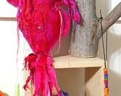 Pink Felt Spiral Goddess Doll ~ Spirit Doll