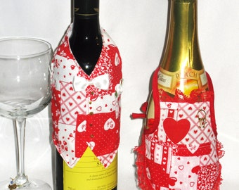 Wine Jacket Host & Hostess in Valentine print