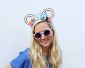 Cindy | Whimsy Mouse Ears | Handmade Mouse Ears | Disneyland | Disney | Cinderella Inspired